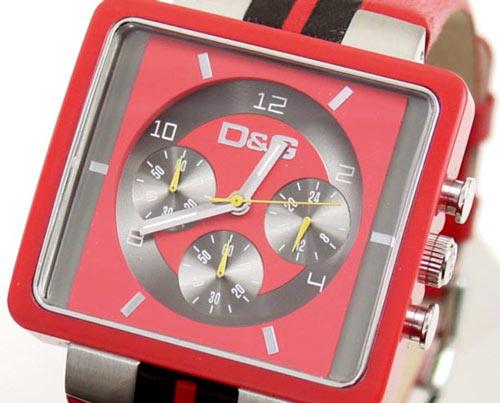 D&G TIME ドルチェ&ガッバーナ CREAM クロノグラフ腕時計 DW0064 レッド×ブラック【ラッピング無料】【10P11Mar16】【05P03Dec16】