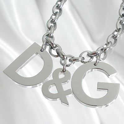D&G/ドルチェ&ガッバーナ D&Gロゴモチーフ ネックレス シルバーDJ0107 【Luxury Brand Selection】【メンズ ギフト】【ラッピング無料】【10P07Feb16】【10P11Mar16】【05P03Dec16】