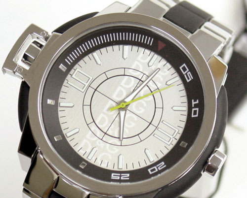D & G TIME d & g IBIZA ROCKS mens watch DW0077 silver SS belt 05P22Nov12