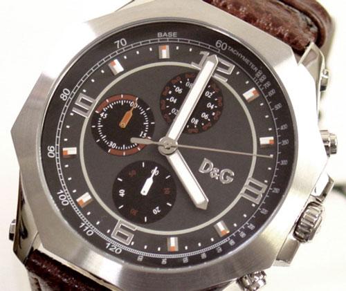 D & G TIME Dolce & Gabbana GOOSE Chronograph Watch DW0104-black