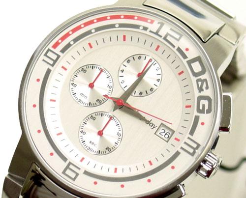 D&G TIME ドルチェ&ガッバーナBIG FISH クロノグラフ腕時計 DW0118 シルバー SSベルト【ラッピング無料】【10P11Mar16】【05P03Dec16】