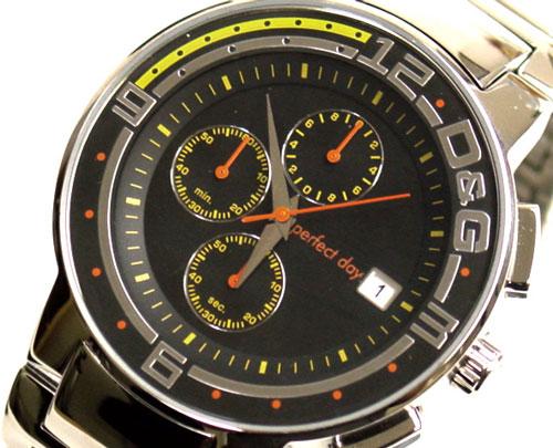 D&G TIME ドルチェ&ガッバーナBIG FISH クロノグラフ腕時計 DW0119 SSベルト【ラッピング無料】【10P11Mar16】【05P03Dec16】