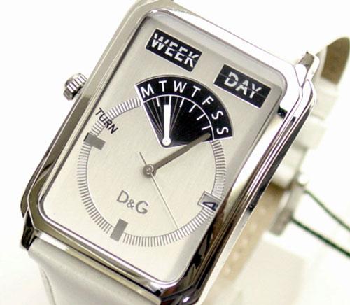 D&G TIME Dolce & Gabbana SEA QUEST men watch DW00124 silver X white