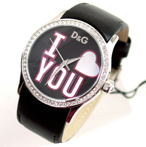 D&G TIME ドルチェ&ガッバーナBE MINE レディース革ベルト腕時計 DW0146【ラッピング無料】