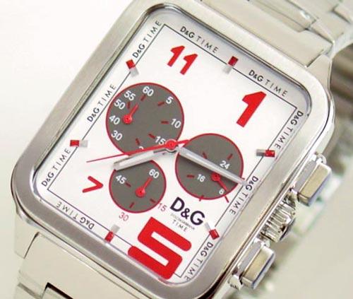 D&G TIME ドルチェ&ガッバーナGERONIMO クロノグラフ SSベルト時計 シルバー DW0185【ラッピング無料】【10P11Mar16】【05P03Dec16】