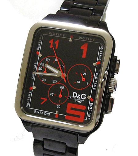 D&G TIME ドルチェ&ガッバーナGERONIMO メンズクロノグラフ腕時計 SSベルト DW0186【ラッピング無料】【10P11Mar16】【05P03Dec16】