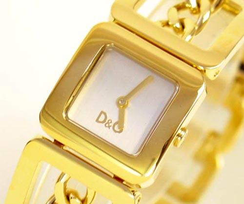 D&G TIME ドルチェ&ガッバーナCONFIDENTIAL レディースSSゴールドベルト腕時計 DW0236【ラッピング無料】【10P11Mar16】【05P03Dec16】