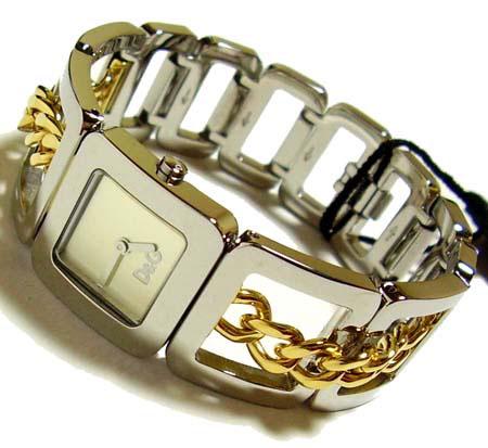 D&G TIME ドルチェ&ガッバーナCONFIDENTIAL レディースSSベルト腕時計 DW0237【ラッピング無料】【10P11Mar16】【05P03Dec16】