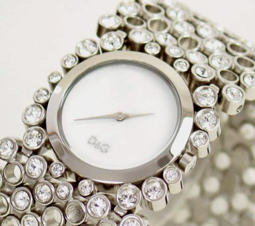 D&G TIME ドルチェ&ガッバーナRISKY レディースSSベルト腕時計 DW0243【ラッピング無料】【10P11Mar16】【05P03Dec16】