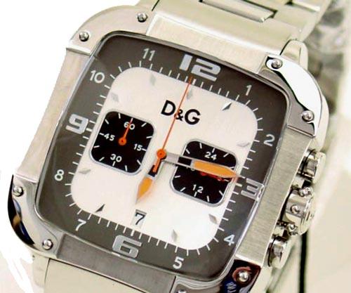 D&G TIME ドルチェ&ガッバーナLICENSED DW0246 クロノグラフ SSベルト時計 シルバー【ラッピング無料】【10P11Mar16】【05P03Dec16】