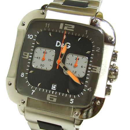 D&G TIME ドルチェ&ガッバーナLICENSEDクロノグラフ SSベルト腕時計 DW0247【ラッピング無料】【10P11Mar16】【05P03Dec16】