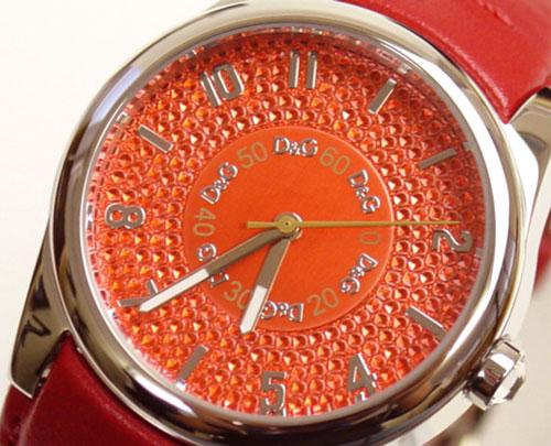 D&G TIME ドルチェ&ガッバーナSANDPIPER ロゴフェイス時計 DW0260 レッド【ラッピング無料】【10P11Mar16】【05P03Dec16】