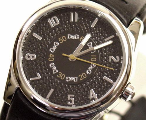 D&G TIME ドルチェ&ガッバーナSANDPIPER ロゴフェイス時計 DW0261 ブラック【ラッピング無料】【10P11Mar16】【05P03Dec16】