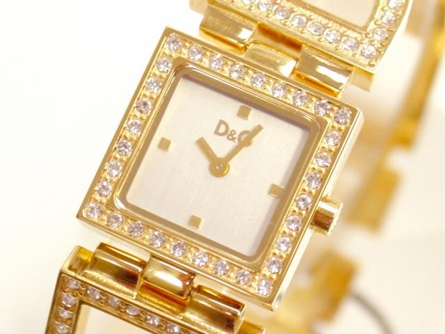 D&G TIME ドルチェ&ガッバーナ DAY&NIGHT レディースジルコニア付ゴールドSSベルト腕時計 3719250329【ラッピング無料】【10P11Mar16】【05P03Dec16】