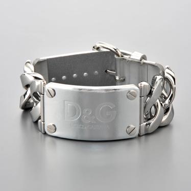 D&G/ドルチェ&ガッバーナ ロゴブレスレット DJ0722 シルバー 【Luxury Brand Selection】【メンズ ギフト】【ラッピング無料】【10P19Dec15】【10P11Mar16】【05P03Dec16】