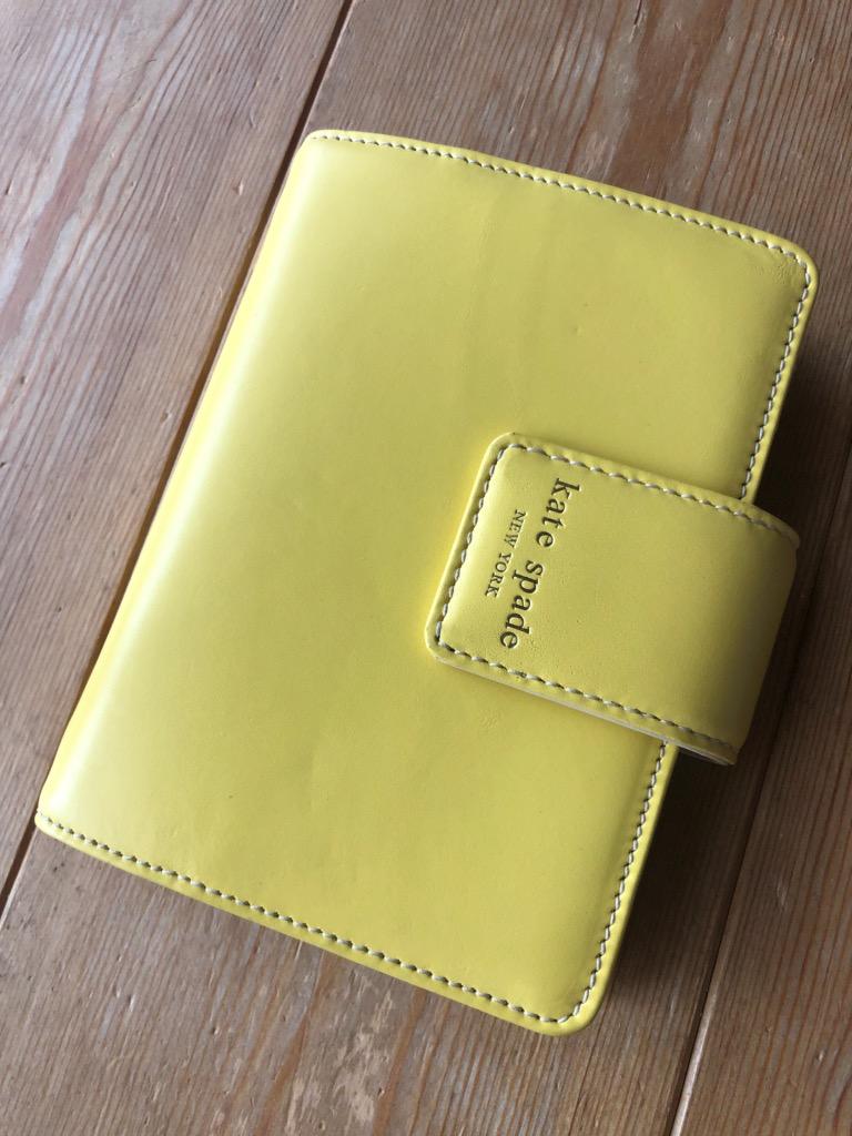 【即納】kate spade/ケイトスペード 2020年最新システム手帳 tudor city debra yellow【ラッピング無料】