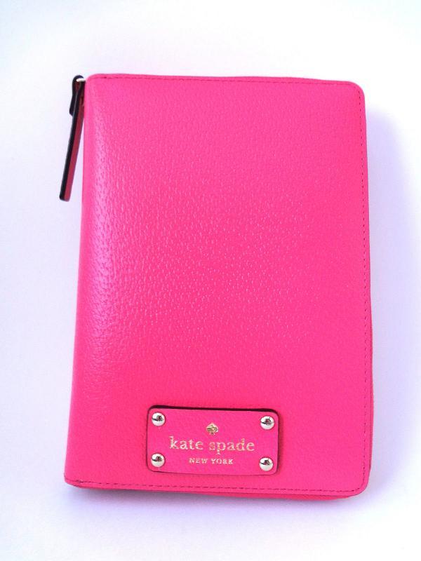 kate spade/ケイトスペード 2019年最新システム手帳 wellesley zip around personal organizer Caberet Pink WLRU1321 【Luxury Brand Selection】【ラッピング無料】