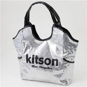 KITSON スパンコールトートバッグ Los Angeles Sequin Tote Silver/Black【ラッピング無料】【10P11Mar16】【05P03Dec16】
