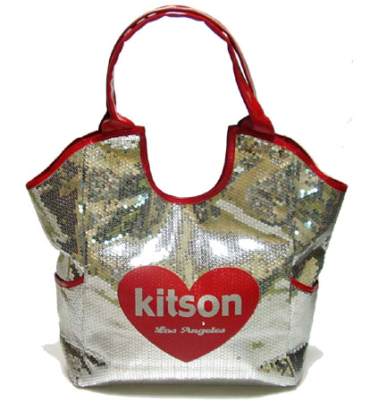 KITSON/キットソン スパンコールトートバッグ Los Angeles Sequin Tote 【レディース ギフト】【ラッピング無料】
