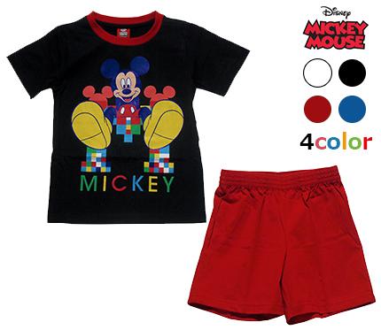 4カラー人気のキャラクターTシャツショートパンツセット メール便送料無料 Disney ディズニー MICKEY MOUSE T-SHIRT SHORT 子供服 格安激安 PANTSミッキーマウス 6歳 Tシャツ 8歳 10歳 メーカー直送 4歳 ショートパンツ