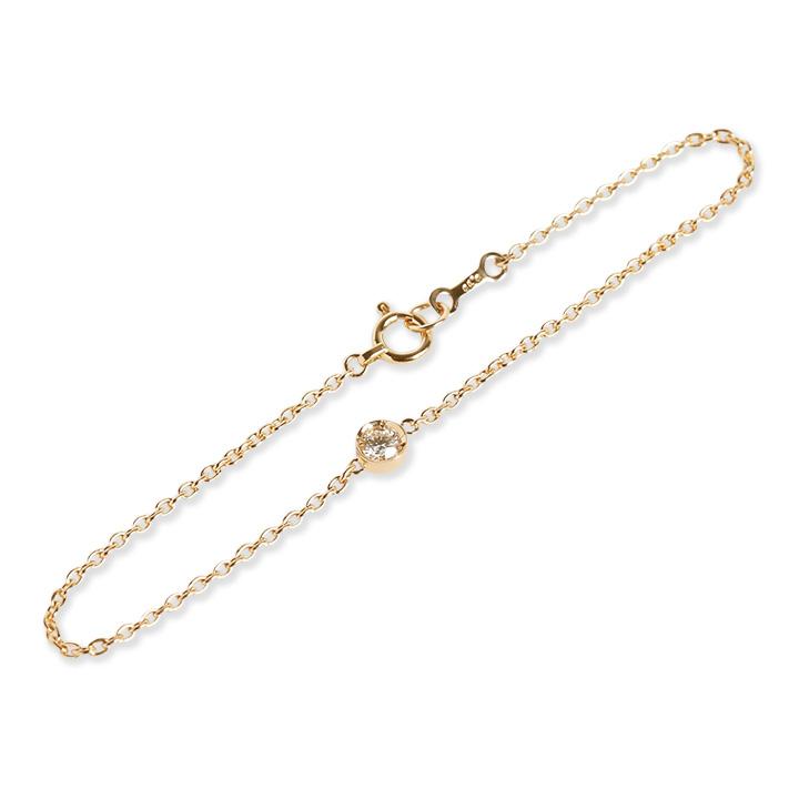 一粒 ダイヤモンド ブレスレット 『BETTiA』 一粒ダイヤ ブレスレット レディース 18k 18金 k18 ゴールド ダイヤブレスレット ダイアモンド シンプル 大人 女性 華奢 普段使い bracelet 送料無料 ギフト プレゼント