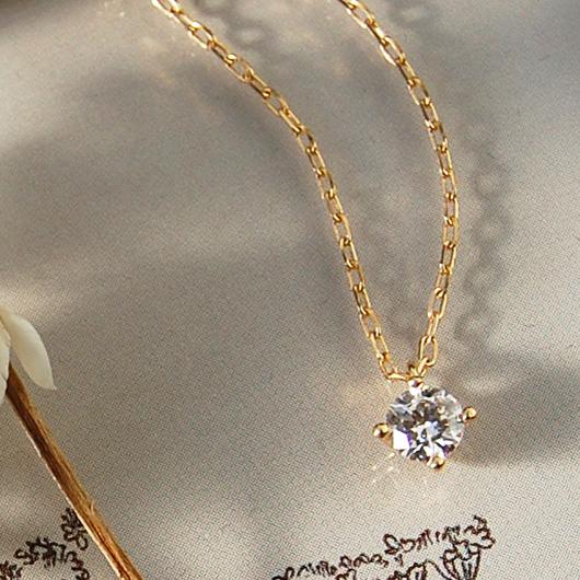 一粒 ダイヤモンド ネックレス 『Pealina 0.2ct 』 ポイント10倍 ネックレス レディース 一粒ダイヤ k18 18金 18k k10 10金 10k ゴールド ペンダント ダイアモンド pendant シンプル 大人 女性 上品 送料無料 ギフト プレゼント
