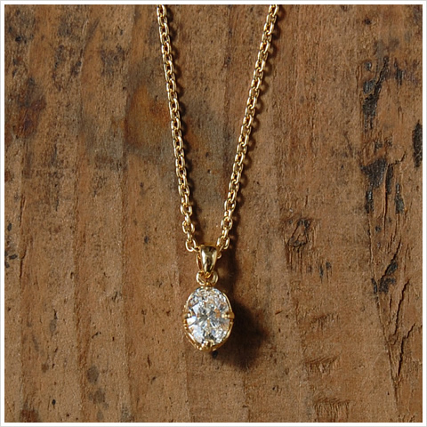 Jewelry avaron rakuten global market k18 oval cut diamond k18 oval cut diamond necklace quotone diamondquot ladies grain dianecklace dianecklace gold 18 mozeypictures