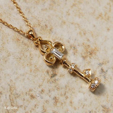 Jewelry avaron rakuten global market k18 bucket cut diamond key k18 bucket cut diamond key necklace quotkey necklace pendant diamond key gold 18 mozeypictures Choice Image