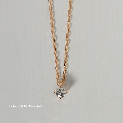 "K18 grain diamond necklace ""Pealina"" 0.1 ct total 9500 books sell gold 18 18 k gold pendant women's スキンジュ jewelry for women high quality mail-order gift giveaway"