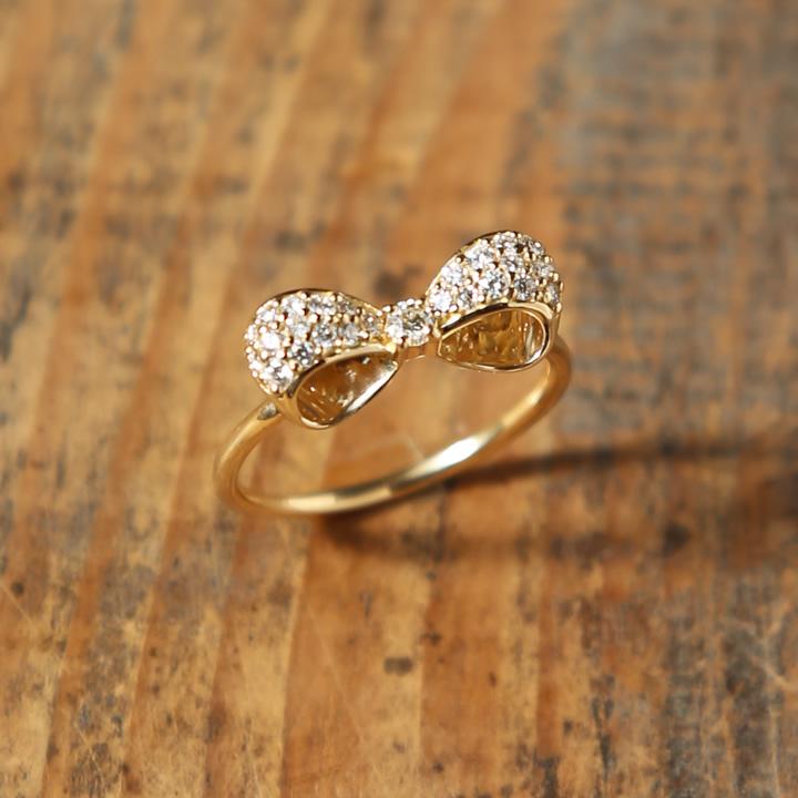 レディース 『Orderly Pave』 ダイヤモンド k10 10k 上品 指輪 リング 送料無料 ギフト プレゼント 女性 パヴェリング エレガント ダイヤ ダイヤリング ring k18 18k 大人 リング 10金 パヴェ 18金 ゴールド