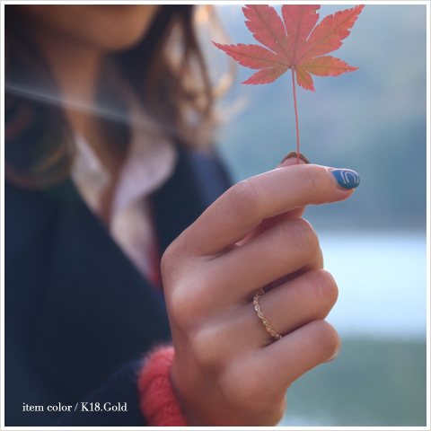 "K18 diamond ring ""Leaf Basic Ring 01' ring ladies diamond gold leaf plant Botanicals 18 k 18 k gold size no. ring gift present jewelry engraved women Japan-anniversary birthday shop 10P06May15"