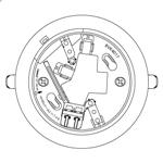 【20個セット】パナソニック 感知器ベースBVK4017 埋込型【ベースのみ】【コネクタ無】