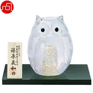 津軽びいどろ 白ふくろう青森県指定伝統工芸品