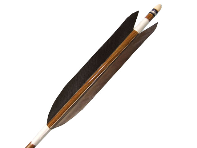 Eastonウッドカーボン 黒尾羽6本組 オーダー製作