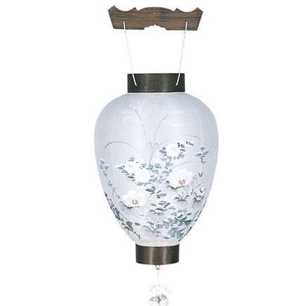 木製の御所デザイン盆提灯「芙蓉」。店長一押しの目玉商品です。【G38GS1511L】