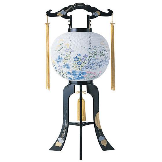 回転デザイン盆提灯「桔梗」。新デザインの数量限定商品です。【G23KT6317】