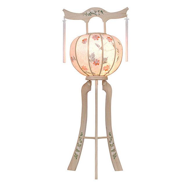白を基調にした神道用の木製盆提灯送料無料・毎年一番人気のちょうちんです。【G35ST8425】