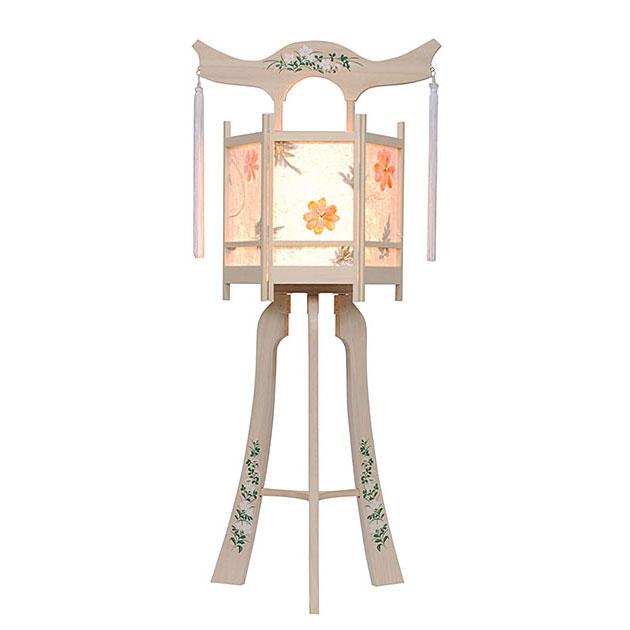 白を基調にした神道用の木製盆提灯送料無料・新デザインの数量限定商品です。【G35ST8437】