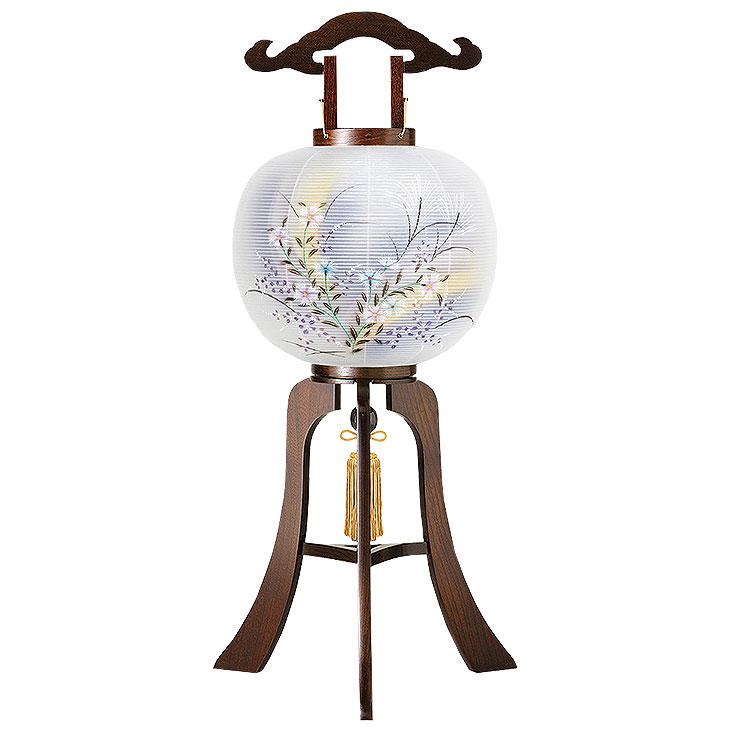 木製の大内デザイン盆提灯「撫子」。送料無料・黒檀調の重厚感が魅力です。【G11OU3816】