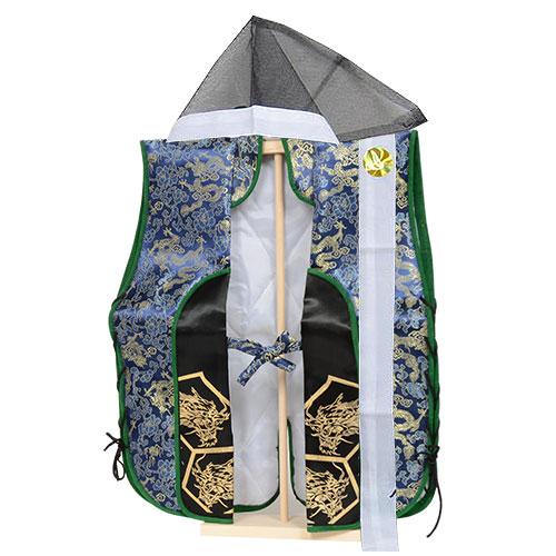 実際に着られるお祝い着【陣羽織】【青】記念撮影にオススメ!