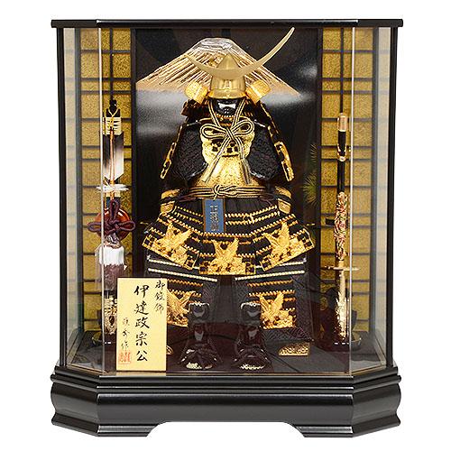 No.507-17 五月人形 ケース入り 鎧飾り 伊達政宗 5号 ゴールド 南蛮