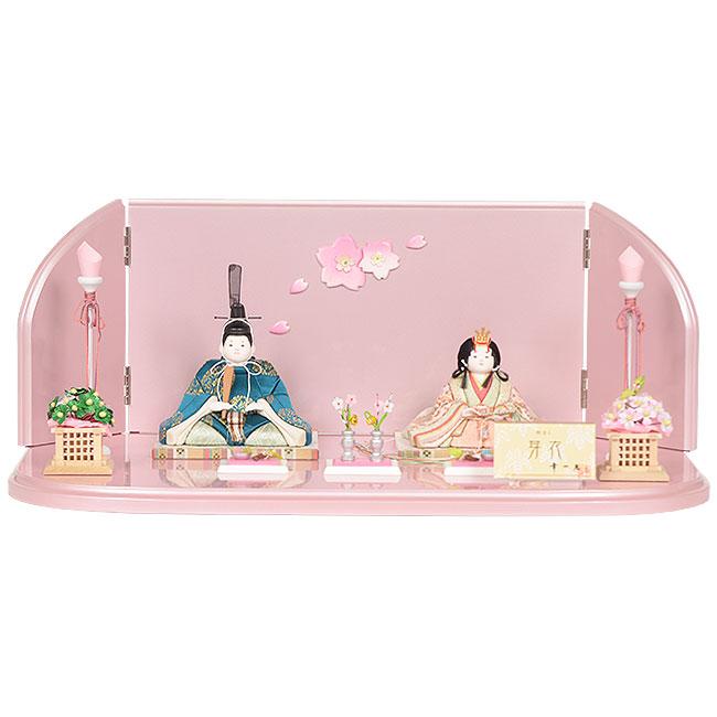 雛人形 No.317-07 幸一光 【芽衣(めい)】 木目込み人形(親王平飾り)