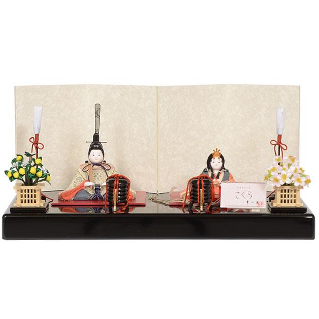 雛人形 No.317-06 幸一光 【さくら】 木目込み人形(親王平飾り)