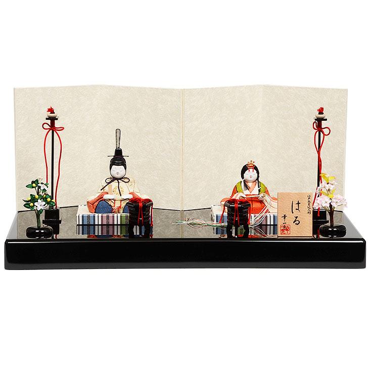 雛人形 No.317-12 幸一光 【はる】 木目込み人形(親王平飾り)