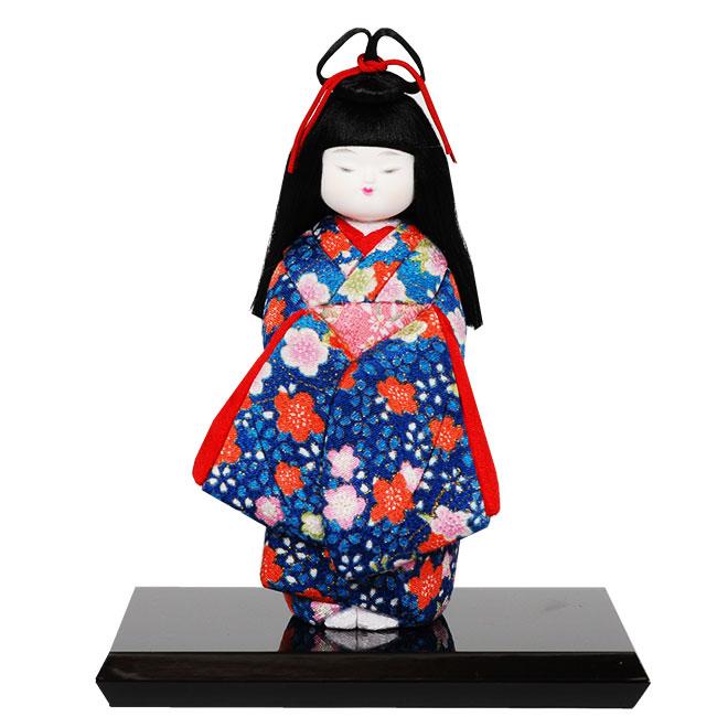 ギフトに最適な木目込み童人形 No.1021-A【おめかし】 完成品