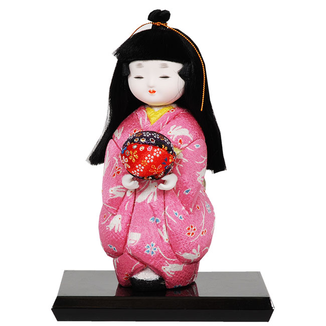 ギフトに最適な木目込み童人形 No.1022-A【つづみのまりもち】 完成品