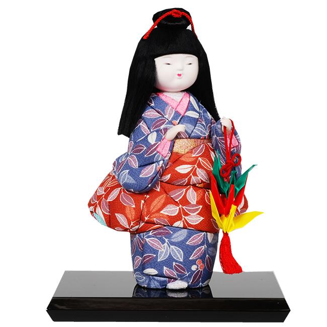 ギフトに最適な木目込み童人形 No.1023-A【折りづる】 完成品