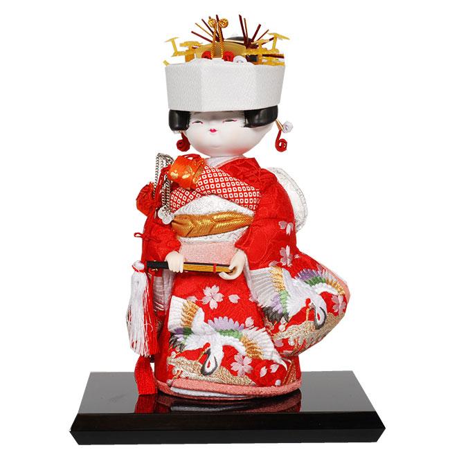 ギフトに最適な木目込み童人形 No.1024-A【花嫁/小】 完成品