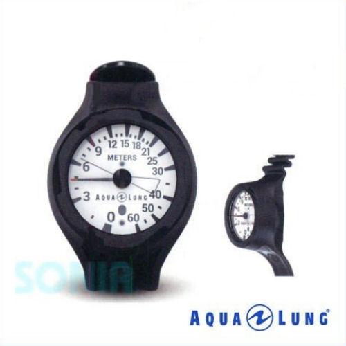 AQUALUNG(アクアラング) 614137 プレシスリストタイプデプスゲージ ダイビング 水深計