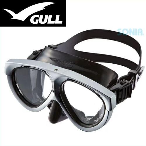 GULL(ガル) 【GM-1037】 マンティス5ブラックシリコン マスク(メタリックシルバー) MANTIS MASK